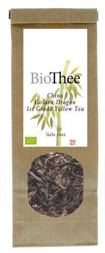 Premium losse gele thee Golden Dragon 1st Grade bio